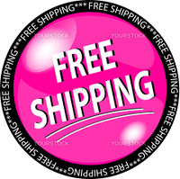 illustration of a pink free shipping button