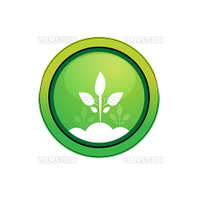illustration of vector icon with plant against white background