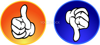 Thumbs up & down buttons