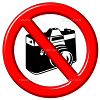 No photographs 3d sign isolated in white