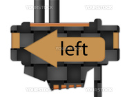 arrow sign pointing to the left