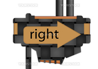 arrow sign pointing to the right