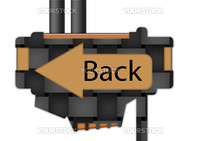 """arrow sign pointing spelling the word """"Back"""""""