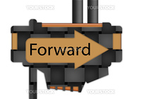 """arrow sign pointing spelling the word """"Forward"""""""