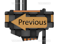 """arrow sign pointing spelling the word """"Previous"""""""