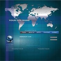 Website template, editable vector