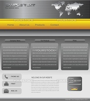 Website template professional design, editable vector