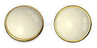 3D button template in solid gold/pale yellow
