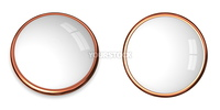 3D button template in solid bronze/copper and white surface