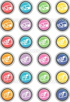 Vector Illustration of a group of colored web buttons.