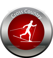 winter game button cross country