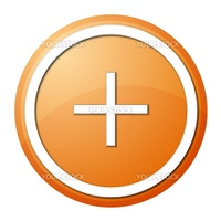 round plus button with white ring for web design and presentation