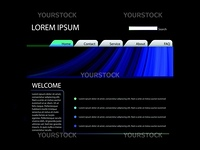 Vector - Website Layout Template in Blue Color