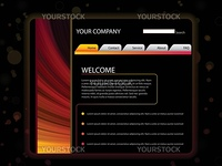 Vector - Website Layout Template in Red and Yellow Colors