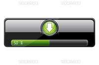 illustration of downloading bar on white background