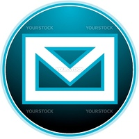email envelope symbol: sexy blue light vector button