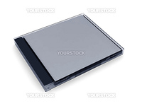 cd box on a white background. 3d illustration. High resolution image.