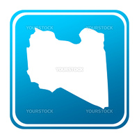 Libya map button  isolated on a white background.