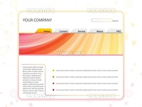 Vector - White Website Layout Template in Red and Yellow Colors