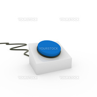 3d button blue on off start stop push