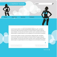 Website template. Easy to edit and replace text and images.