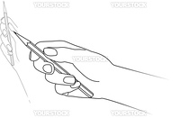 Hand drawing. Vector illustration on white background