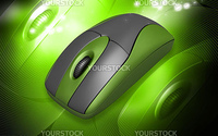 high quality rendering Computer Mouse in digital background
