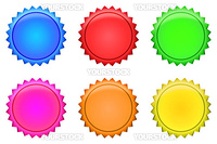 A Series of Button Badges - several colors