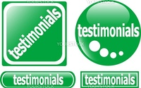 web testimonial icon design element. vector label