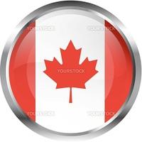 North American flag button set - Canada
