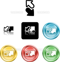 Several versions of an icon symbol of stylised arrows symbolising send receive or upload download