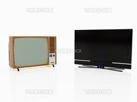 High resolution image TV. 3d illustration over  white backgrounds.