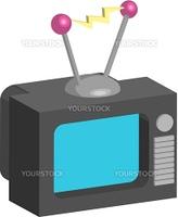 Television. Retro style tv illustration
