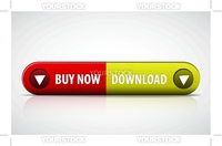 Red and green Buy now / Download double button