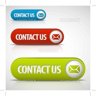 set of contact us buttons - red, green and blue