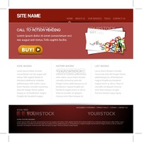 Modern website template with nice button
