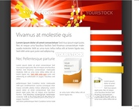 Dynamic website template - red and yellow version