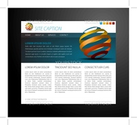 Modern website template - with some 3D elements