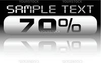 vecror metal percent banner