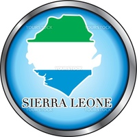 Vector Illustration for the country of Sierra Leone Round Button.