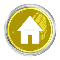 "A Web Button ""Home"" on white Background"