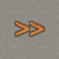 Artistic forward arrows