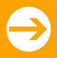 Orange framed arrow pointing right
