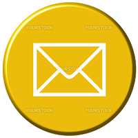 Mail button isolated in white