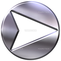 3d silver framed arrow isolated in white