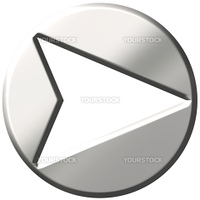 3d steel framed arrow isolated in white