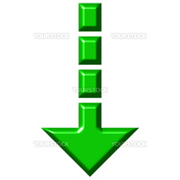 3d download arrow isolated in white