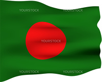 3d flag of Bangladesh isolated in white