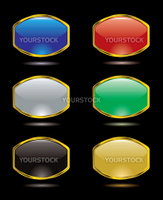 Collection of six gel filled buttons for the internet