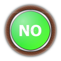 yes and no button isolated on white background